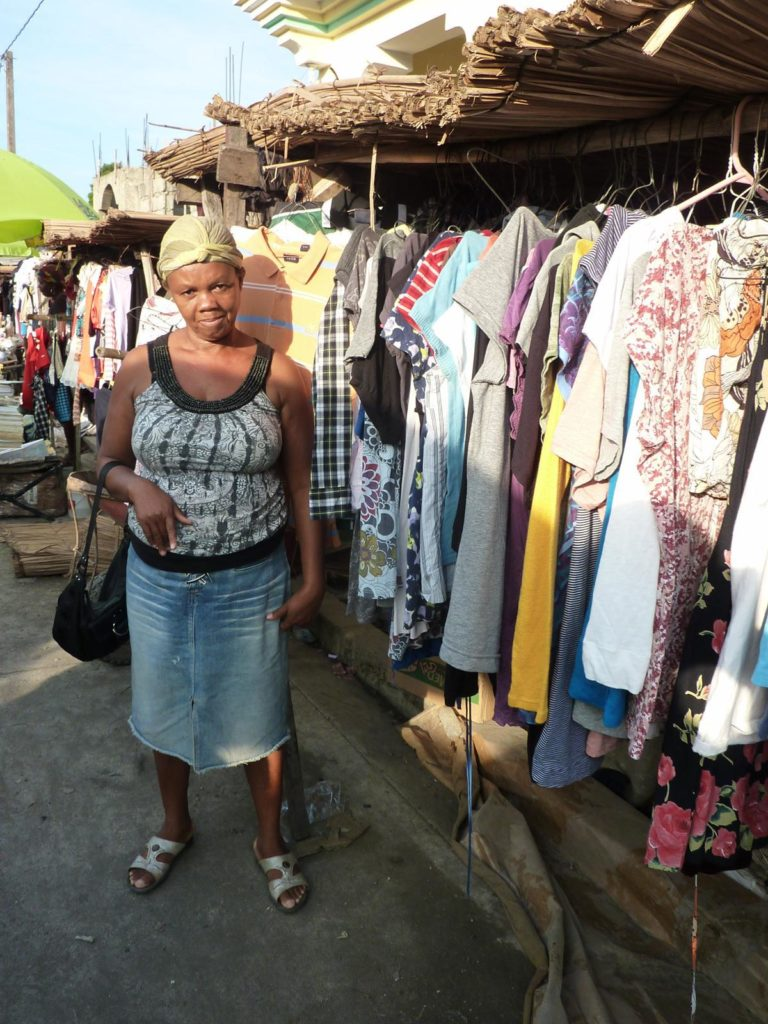 Woman selling her wares at the market